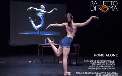 Home alone, il Balletto di Roma a Catania con lo spettacolo interattivo per il giovane pubblico e laboratorio per docenti