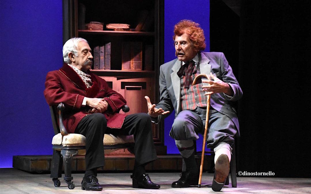 Filippo Mancuso e Don Lollò, il 21 e 22 dicembre due date al Teatro Brancati per la pièce di Camilleri e Dipasquale con Tuccio Musumeci e Pippo Pattavina